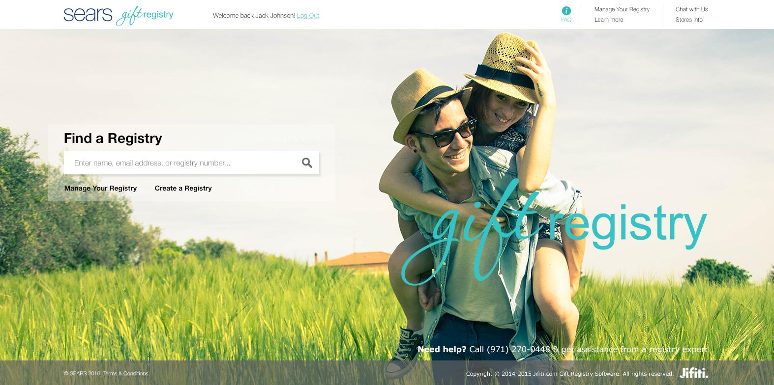 sears_registry_homepage